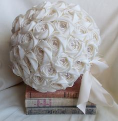 A personal favorite from my Etsy shop https://www.etsy.com/listing/185566178/wedding-bouquet-ivory-wedding-wedding