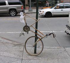 Street artist - Street art- Mark Jenkins - Bycicle - Bike
