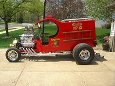 . Strange Cars, I See Red, T Bucket, Plastic Model Cars, Fire Dept, Custom Cars, Cars Motorcycles, Hot Rods, Cool Cars