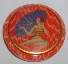 Vintage Art Deco Celluloid Powder Compact