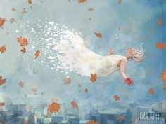 Lisa, Girl Wallpaper, Four Seasons, Autumn Leaves, Art Quotes, Infographic, Whimsical, Inspiration, Painting