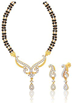 #White American #Diamond Studded #Mangalsutra @ $63.79