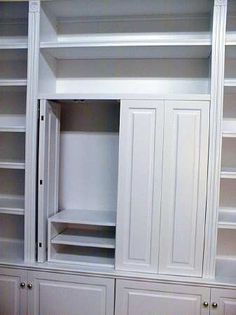 Bi Fold Doors Go Back Into Cabinet For Tv