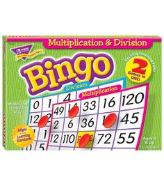 Multiplication & Division (2 - sided) Bingo Game