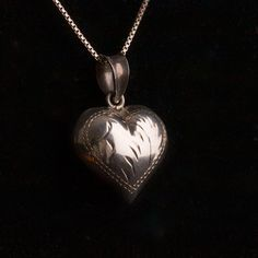 Sterling Silver Heart Pendant on Sterling Box by TwiceBakedVintage, $32.00