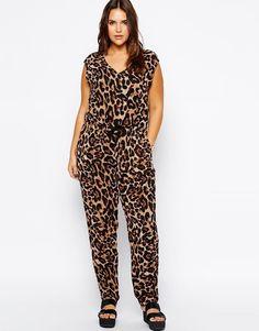 ee07a8dc847 Leopard Jumpsuit Plus Size V neck Sleeveless. Summer RomperSummer JumpsuitLong  JumpsuitsJumpsuits For WomenJumpsuit ...