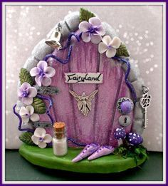 Check out our fairy doors selection for the very best in unique or custom, handmade pieces from our shops. Polymer Clay Fairy, Polymer Clay Crafts, Fairy Crafts, Diy And Crafts, Clay Projects, Projects To Try, Fairy Garden Houses, Gnome Garden, Clay Fairies