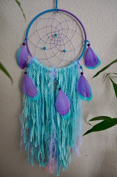 DISNEY FROZEN DREAMCATCHER Blue Purple Dream by JunebugArtistry