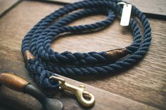 Royal navy rope dog lead / leash  Made in by AnimalsInCharge