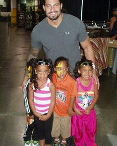 Roman Reigns and his little cousins