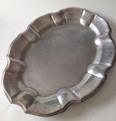 "Wilton Armetale Chippendale Large 17"" Metal Serving Platter Oval Turkey Retired"