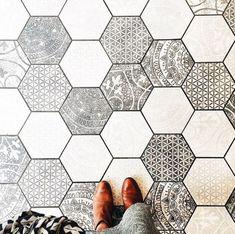 hexagon patterned tiles