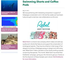 Rebel Swim on Galapagos Conservation Trust blog! Premium men's swim shorts designed with passion and a purpose! www.rebelswim.com