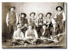 The 10 orginal TEXAS RANGERS Frontier Battalion Co. B about 1880