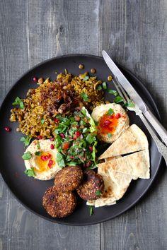 Food Business Ideas, Whole Food Recipes, Healthy Recipes, Pitta, Falafel, Frisk, Hummus, Tapas, Curry