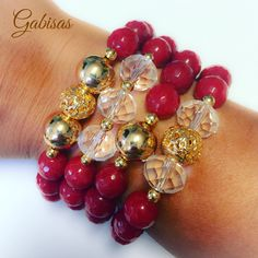 Get you Red ready for the Holidays. ❣❤️. #instapic #armparty #armcandy #picoftheday #fashion #red #collection #holidayseason #holiday #crystal #goldfill  Gabisasworld #gabisasboutique #Gabisas #miamiboutique #boutique #style #fashion #handmadejewerly ☎️786-334-7535☎️ for Apptms . lisvet@gabisas.com for invoice!!! 3475 NW 114th Ave Doral FL 33178