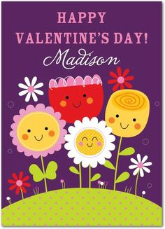 Love You Bunches - Valentine's Day Cards in Grape | Kelly Medina Studios