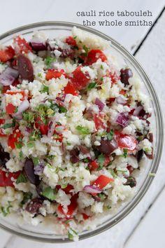 cauliflower rice tabouleh - grain-free - paleo - the whole smiths