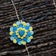 La PresenDoce Polymer Clay Ciondolo gioielli tondo polimero #presentosa #abruzzo #arteabruzzese #handmade