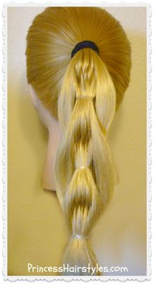 Quilted pull through braid hairstyle, video tutorial.