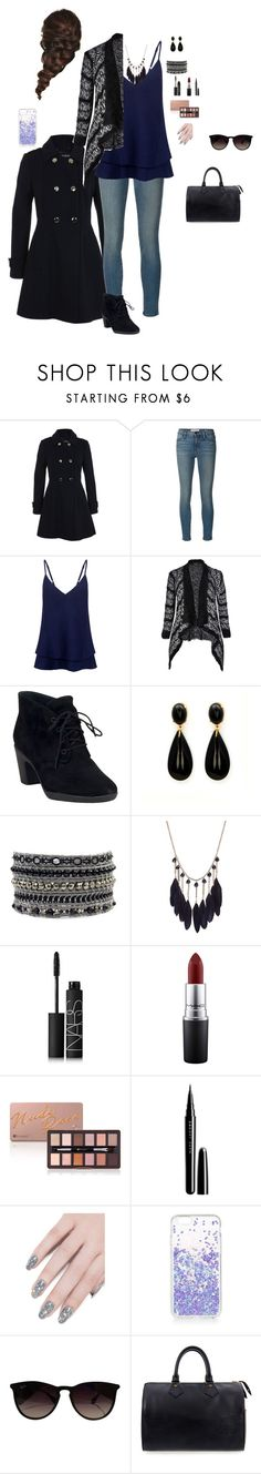 """""""Untitled #296"""" by kylietownsend on Polyvore featuring Miss Selfridge, Frame Denim, C/MEO COLLECTIVE, City Chic, Clarks, NARS Cosmetics, MAC Cosmetics, Marc Jacobs, ncLA and Disney"""