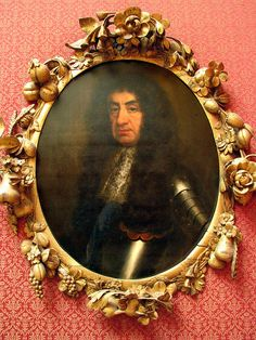John Riley's portrait of Charles  ll and a frame by Grinling Gibbons by Martin Beek, via Flickr.