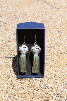 Beklina Elke Tassel Earrings Mix Granite