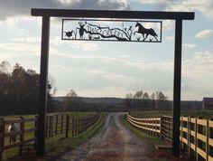 farm ranch metal entry signs - Google Search