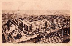 """Legnano, Panorama dell'ex Ditta """"De Angeli - Frua"""", via Roma e Corso Italia. #Legnano #Città #Factory"""