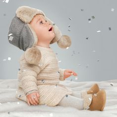 Plush in grays, blues and wintry whites. All from Baby Gap for your sweet girl! Babies First Christmas, Christmas Baby, Christmas Photos, Xmas, Baby Kind, My Baby Girl, Cute Kids, Cute Babies, Foto Baby
