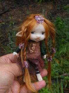sweet 4.5 inches tiny fairy fairie by throughthemagicdoor
