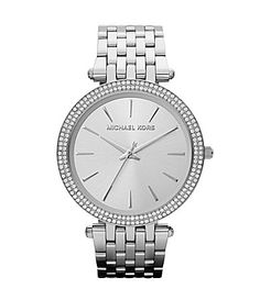 I have this exact watch!!! Michael Kors Darci Silver Watch #Dillards