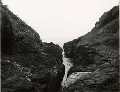 """Mark Ruwedel Pictures of Hell Devil's Chasm, 2002/03 Gelatin silver print mounted to 24 x 28"" archival board, with graphite lettering 16 x 20 inches"""