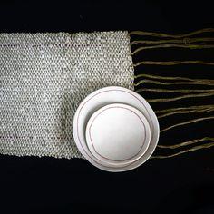 pièce tissée papier & coton 16x50cm par mbd