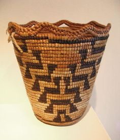 Berry Basket, c. 1900  Klickitat Basketry