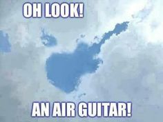 Just try playing this air guitar! Music Jokes, Music Humor, Funny Music, Drum Lessons, Guitar Lessons, Music Guitar, Playing Guitar, Acoustic Guitar, Ukulele