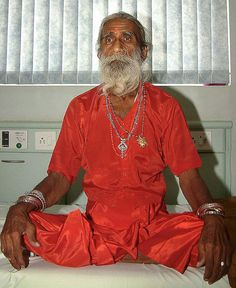 Prahlad Jani, a staunch devotee of the goddess Amba, has supposedly lived without food or water since 1940. In 2010, scientists observed him 24x7 in a room for 15 days on CCTVs and found that he had no symptoms of starvation or dehydration.