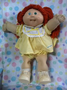 This EXACT Cabbage Patch doll is the one my dad bought me for my 7th birthday!!!