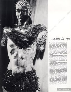 Vitrines ...Janine Janet, Eliane Bonabel, Jean et Olivier Adnet, Annie Beaumel 1963 Photo Brassaï