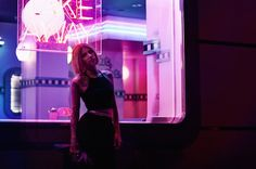 fashion shooting by zaraphoto.com  #lights #nightshooting #fashionshooting #pinkhair #madrid #vegan #blogger