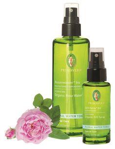 Rosenwasser bio. Schenkt der Haut Feuchtigkeit und stellt ihr pH-Gleichgewicht wieder her. Gesichtspflege. Körperpflege. Face Care. Body Care. Naturkosmetik. natural cosmetic. PRIMAVERA. #primaveralife #primavera #aromatherapie