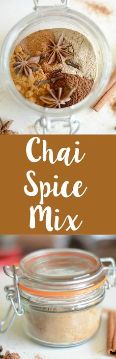 Chai spice mix recipe. Make your own chai mix at home and have it one hand for lattes!