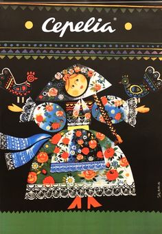 Cepelia, Folk Art, Polish Poster
