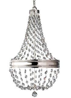Kryształowy żyrandol MALIA z miejscem na sześć źródeł światła to dobre rozwiązanie dla Twojego salonu. #mlamp #oświetlenie #zwis #kryształki #wystrój #wnętrz #glamour