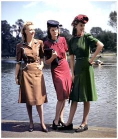 1940's fashion the dresses got shorter. The designer's works have been affected, including Dior, romantic, ethereal clothes line is also rich New Look