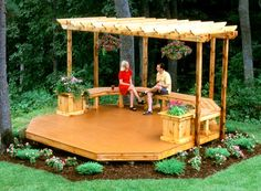 how to build a floating pergola