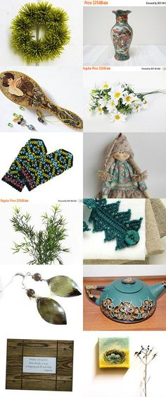 Green Miracle by Ingrida on Etsy--Pinned+with+TreasuryPin.com