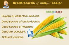 Health benefits of corns for babies