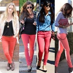 <3 the coral skinnies for spring!