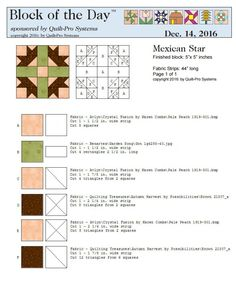 Mexican Stair block
